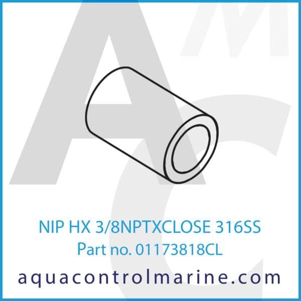 NIP HX 3_8NPTXCLOSE 316SS