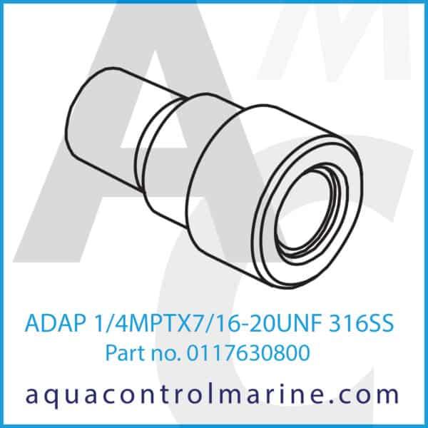 ADAP 1_4MPTX7_16-20UNF 316SS