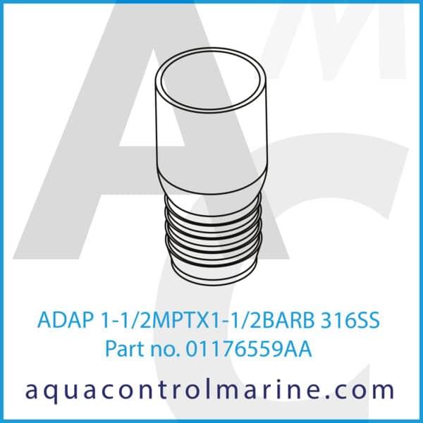 ADAP 1-1_2MPTX1-1_2BARB 316SS