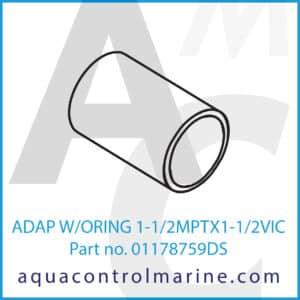 ADAP W_ORING 1-1_2MPTX1-1_2VIC