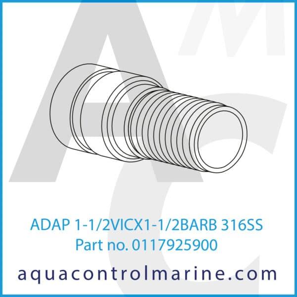 ADAP 1-1_2VICX1-1_2BARB 316SS