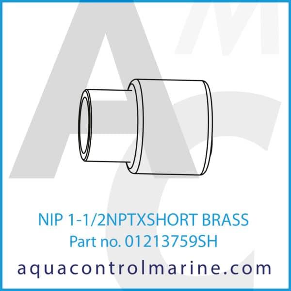 NIP 1-1_2NPTXSHORT BRASS
