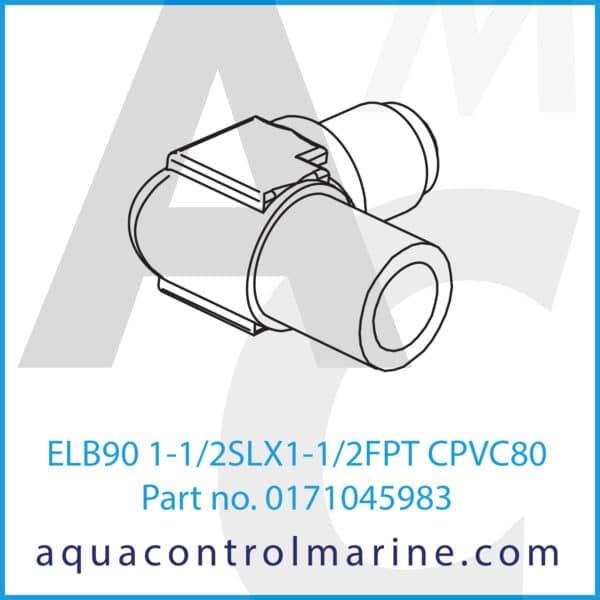 ELB90 1-1_2SLX1-1_2FPT CPVC80