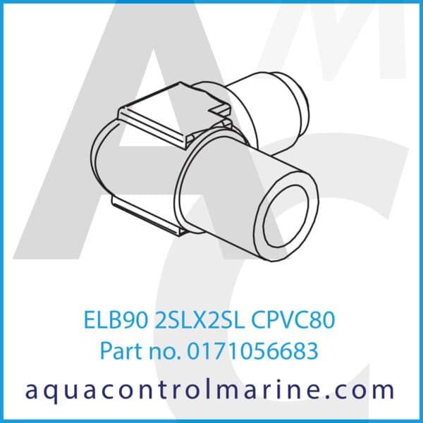 ELB90 2SLX2SL CPVC80