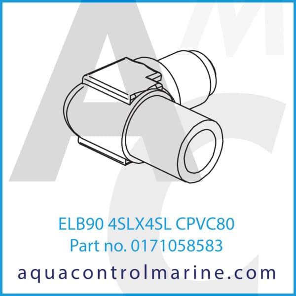 ELB90 4SLX4SL CPVC80