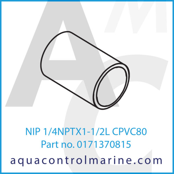 NIP 1_4NPTX1-1_2L CPVC80