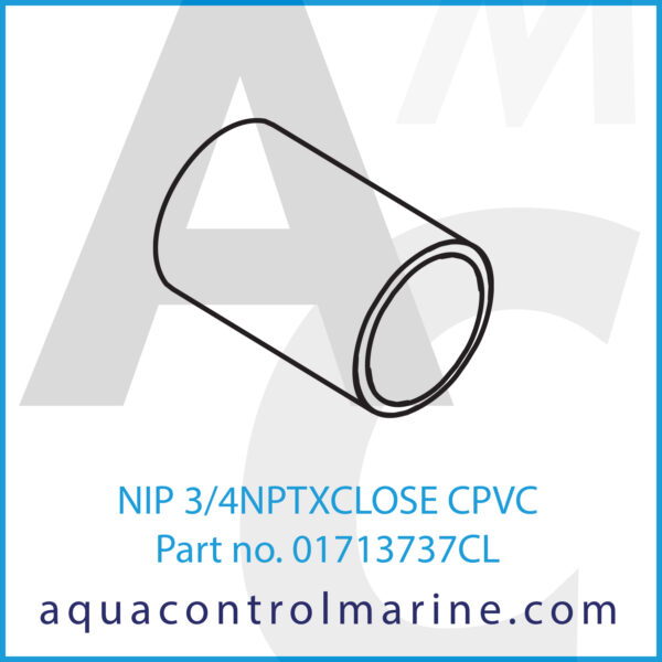 NIP 3_4NPTXCLOSE CPVC