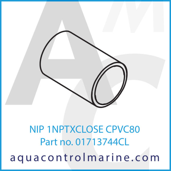 NIP 1NPTXCLOSE CPVC80