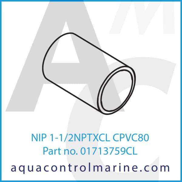 NIP 1-1_2NPTXCL CPVC80