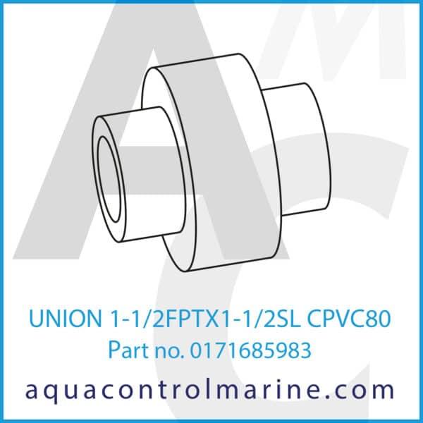 UNION 1-1_2FPTX1-1_2SL CPVC80