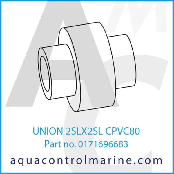 UNION 2SLX2SL CPVC80
