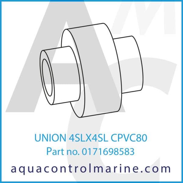 UNION 4SLX4SL CPVC80