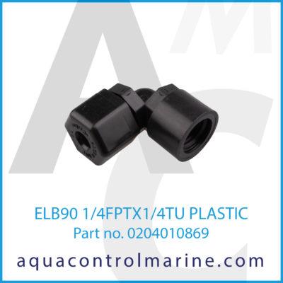 ELB90 1/4FPTX1/4TU PLASTIC