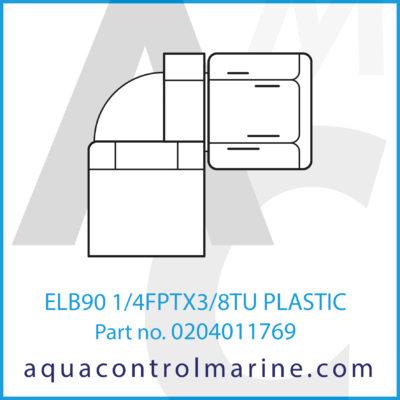 ELB90 1/4FPTX3/8TU PLASTIC