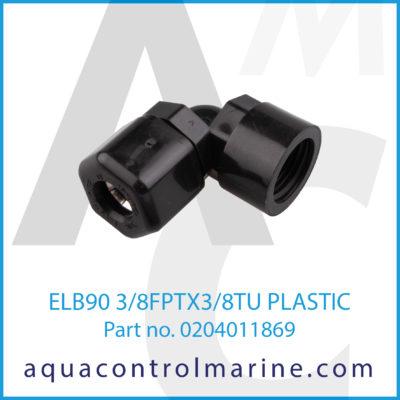 ELB90 3/8FPTX3/8TU PLASTIC