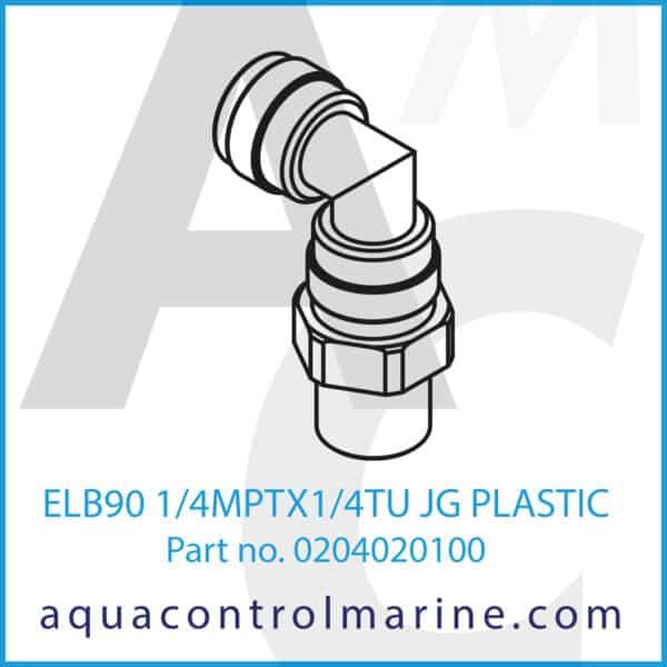 ELB90 1_4MPTX1_4TU JG PLASTIC