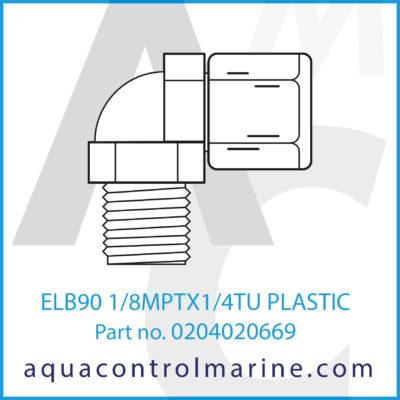 ELB90 1/8MPTX1/4TU PLASTIC