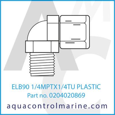 ELB90 1/4MPTX1/4TU PLASTIC