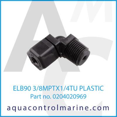 ELB90 3/8MPTX1/4TU PLASTIC