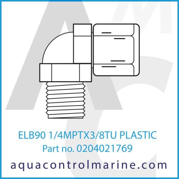 ELB90 1_4MPTX3_8TU PLASTIC
