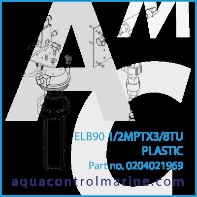 ELB90 1/2 MPT X 3/8 TU PLASTIC