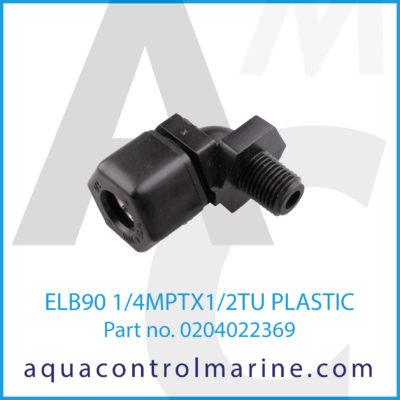 ELB90 1/4MPTX1/2TU PLASTIC