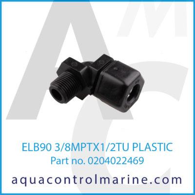 ELB90 3/8MPTX1/2TU PLASTIC