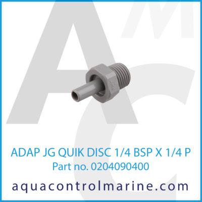 ADAP JG QUIK DISC 1/4BSPX1/4P
