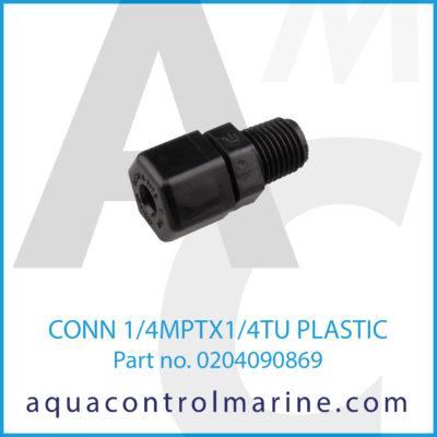 CONN 1/4MPTX1/4TU PLASTIC