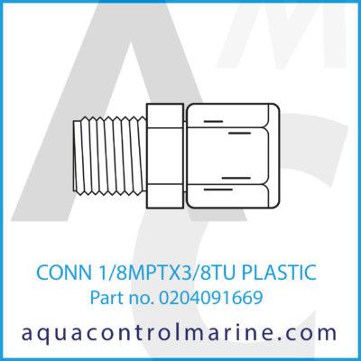 CONN 1/8MPTX3/8TU PLASTIC
