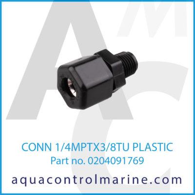 CONN 1/4MPTX3/8TU PLASTIC