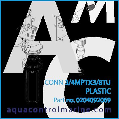 CONN 3/4 MPT X 3/8 TU PLASTIC