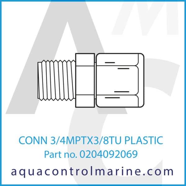 CONN 3_4MPTX3_8TU PLASTIC