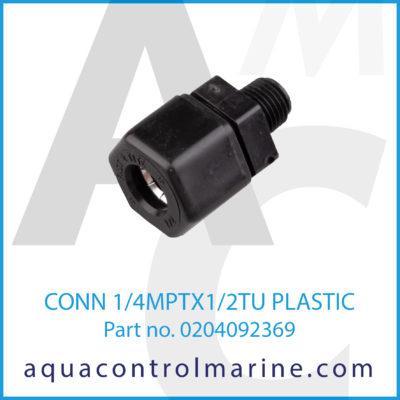CONN 1/4MPTX1/2TU PLASTIC