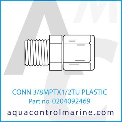 CONN 3/8MPTX1/2TU PLASTIC