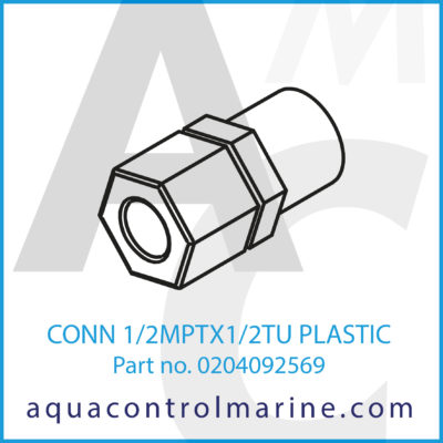 CONN 1/2MPTX1/2TU PLASTIC
