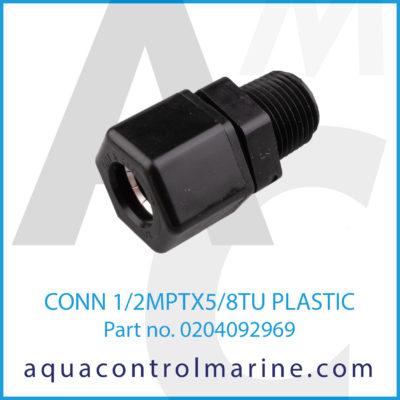 CONN 1/2MPTX5/8TU PLASTIC
