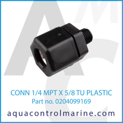 CONN 1/4MPTX5/8TU PLASTIC