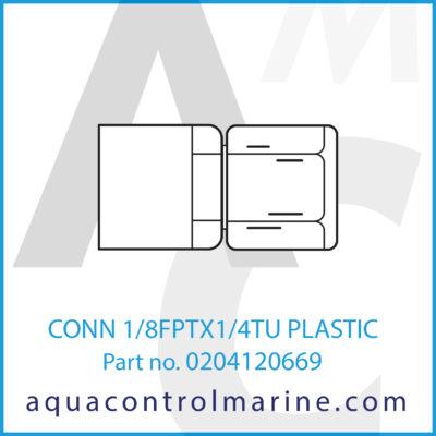 CONN 1/8FPTX1/4TU PLASTIC