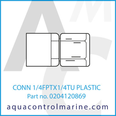 CONN 1/4FPTX1/4TU PLASTIC