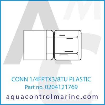 CONN 1/4FPTX3/8TU PLASTIC