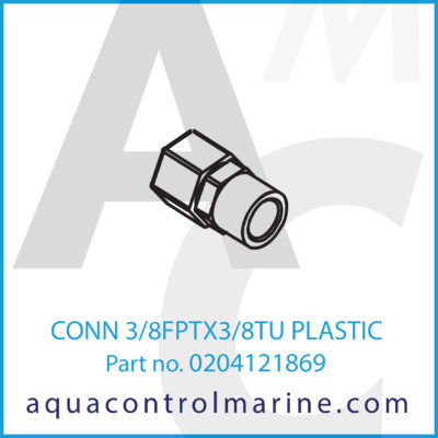 CONN 3/8FPTX3/8TU PLASTIC