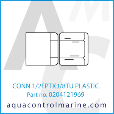 CONN 1/2FPTX3/8TU PLASTIC