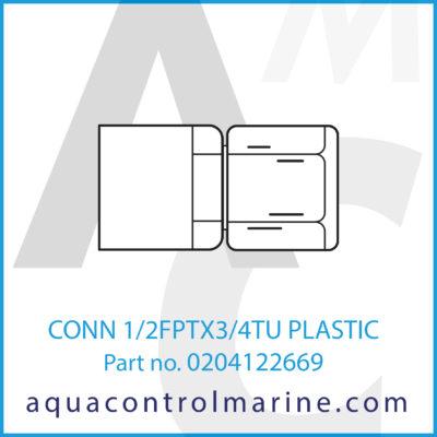 CONN 1/2FPTX3/4TU PLASTIC