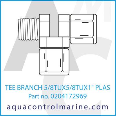 TEE BRANCH 5/8TUX5/8TUX1 PLASTIC