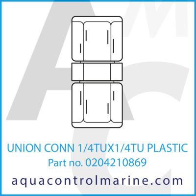 UNION CONN 1/4TUX1/4TU PLASTIC