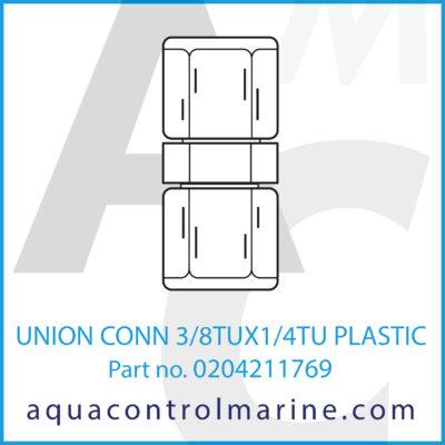UNION CONN 3/8TUX1/4TU PLASTIC
