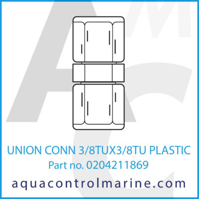 UNION CONN 3/8TUX3/8TU PLASTIC