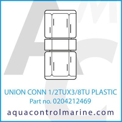 UNION CONN 1/2TUX3/8TU PLASTIC