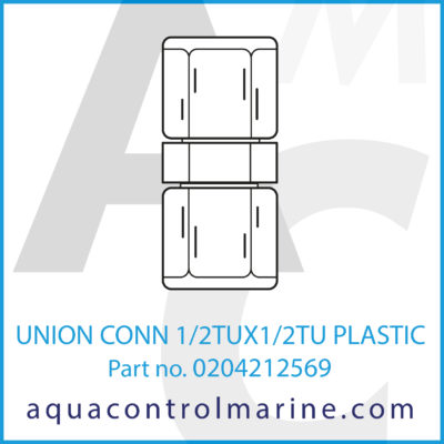 UNION CONN 1/2TUX1/2TU PLASTIC